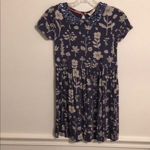 Mini Boden sequin collar dress size 7-8y